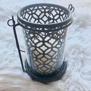 Other - 3/$25 Moroccan black + glass lantern candle holder